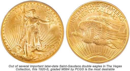 1920-S Saint-Gaudens double eagle