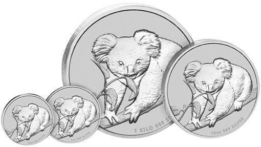 2010 Australian Koala Silver Coins