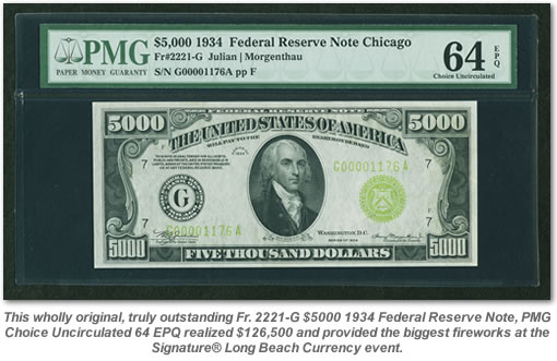 $5000 1934 Federal Reserve Note