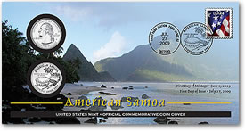 American Samoa Official First Day Coin Cover