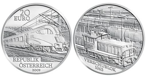 Austrian Railway of the Future Silver Commemorative Coin