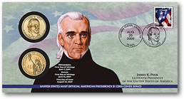 James K. Polk Presidential Dollar Coin Cover