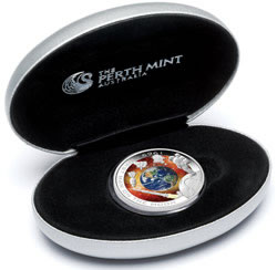Presentation case for 2009 First Man On The Moon 2009 Silver Proof Orbital Coin
