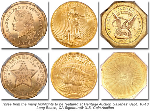 Rare Coins for Heritage Auction Galleries Long Beach US Auction