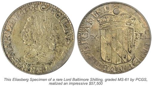 Lord Baltimore Shilling