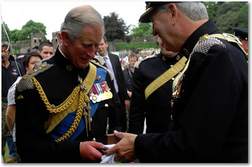 Royal Mint Presentation of special gold medallion to HRH The Prince of Wales