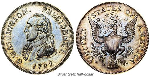 Silver Getz half-dollar
