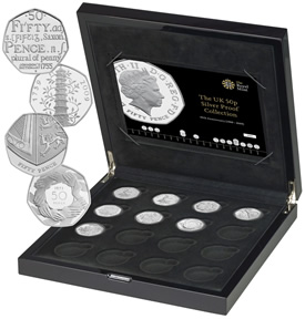 Silver Proof Set Celebrates 40th Year of UK 50p | Coin News
