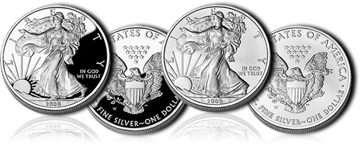 2009 Proof and Uncirculated American Silver Eagle Coins