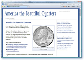 America the Beautiful Quarters Web Site