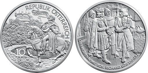 Austria 10€ Richard the Lionheart Silver Coin