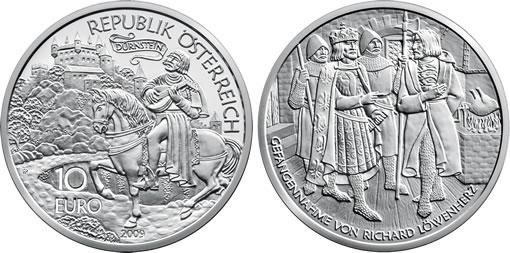 Austria 10€ Richard the Lionheart Silver Coin