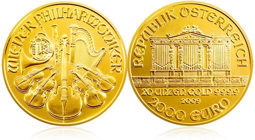 Austrian Gold Philharmonic 20 oz Commemorate Coin