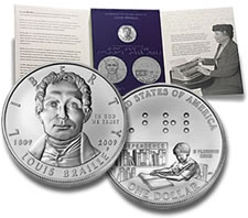 US Mint Braille Education Set with Coin