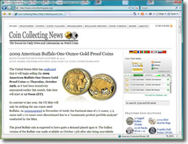Coin Collecting News Web Site