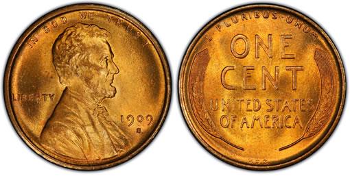 1909-S V.D.B. Lincoln cent