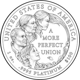 2009 Platinum Eagle Coin Design
