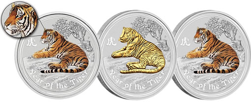 2010 Year of the Tiger Silver Coins
