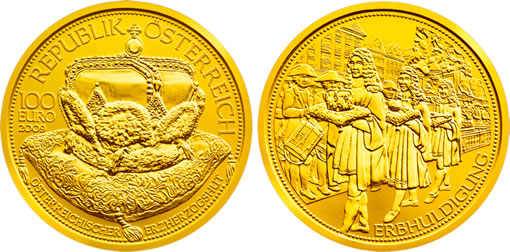 Austrian Mint 100 euro Crown of an Archduke Gold Coin