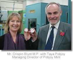 Mr. Crispin Blunt M.P. with Taya Pobjoy
