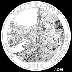 Grand Canyon Quarter Design AZ-01