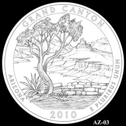 Grand Canyon Quarter Design AZ-03