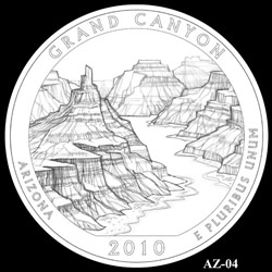 Grand Canyon Quarter Design AZ-04