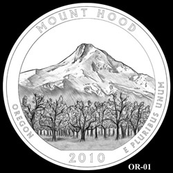 Mount Hood Quarter Design OR-01