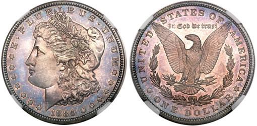 Branch Mint Proof 1884-CC Morgan Dollar