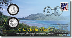 US Virgin Islands Quarter First Day Coin Cover