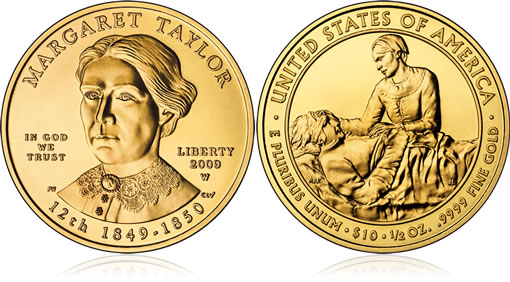Uncirculated Margaret Taylor First Spouse Gold Coin