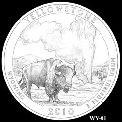 Yellowstone Quarter Design WY-01