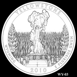 Yellowstone Quarter Design WY-03