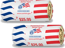 Zachary Taylor Presidential Dollar Rolls