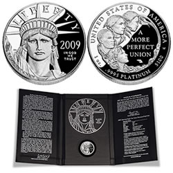 2009 Platinum Eagle Proof Coin and Packaging
