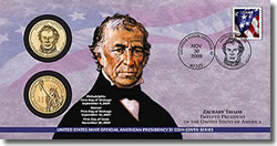 2009 Zachary Taylor $1 Coin Cover