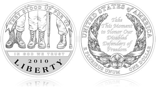 2010 American Veterans Disabled for Life Commemorative Coin Designs