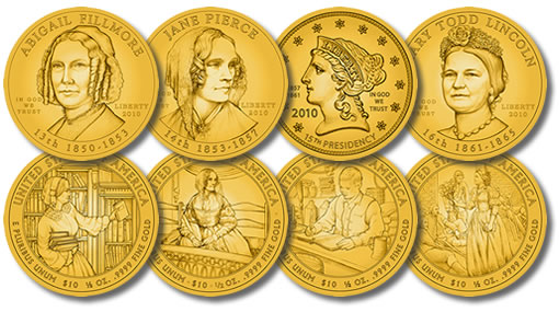 2010 First Spouse Gold Coin Designs
