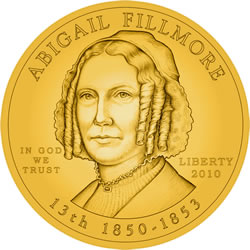 Abigail Fillmore First Spouse Gold Coin Obverse Design
