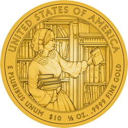 Abigail Fillmore First Spouse Gold Coin Reverse Design
