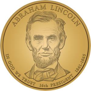 Abraham Lincoln Presidential Dollar Design Image