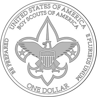 Boy Scouts of America BSA Centennial Commemorative Silver Dollar Reverse Design