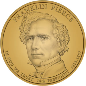 Franklin Pierce Presidential Dollar Design Image