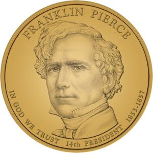 Franklin Pierce Presidential Dollar Design Image