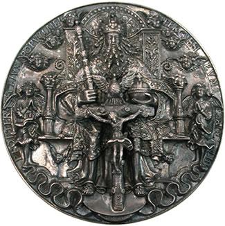Hans Reinhart The elder (c.1510-1581) Silver Trinity Medal (Moritz-pfennig)