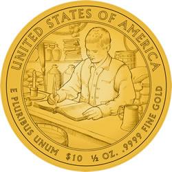 James Buchanan's First Spouse Gold Coin Liberty Reverse Design