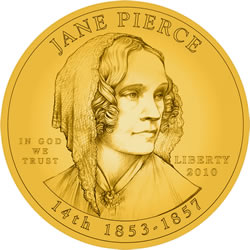 Jane Pierce First Spouse Gold Coin Obverse Design