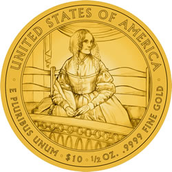 Jane Pierce First Spouse Gold Coin Reverse Design