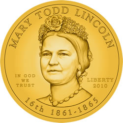 Mary Lincoln First Spouse Gold Coin Obverse Design