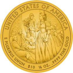 Mary Lincoln First Spouse Gold Coin Reverse Design